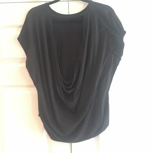 🌺Excellent Condition🌺 Black Top With Draped Back